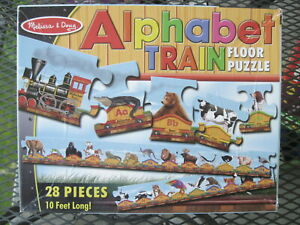 Alphabet Train Floor Puzzle 28 Pieces 10 Feet Long!!! Melissa and Doug