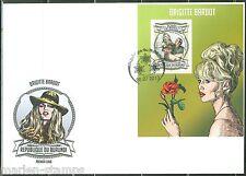 BURUNDI  2013  BRIGITTE BARDOT SOUVENIR SHEET  FIRST DAY COVER