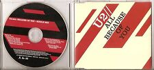 "U2 ""ALL BECAUSE OF YOU"" UK 1 Track Promo CD"