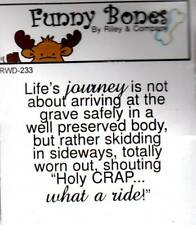 New Cling Riley & Company Funny Bones Rubber Stamp LIFE'S JOURNEY free us ship