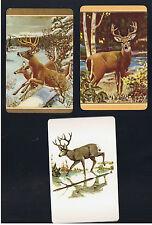 Playing Swap Cards  3 VINT U.S. REINDEER & MOOSE  IN THE WOODLANDS W292