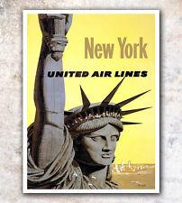 "New York Art Print Travel Poster 12x16"" Rare Hot New A340"