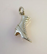 .925 Sterling Silver 3-D Victorian Button BOOT CHARM Ankle Shoe NEW 925 DU18