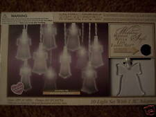 NIB Wedding Shower Bridal Bells LED 10 Light Set NEW