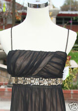 NWT CITY TRIANGLES BlacK/Nud Prom Cocktail Party Gown S