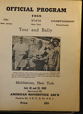 1959 TRI STATE NJ NY PA RALLY AND TOUR OFFCIAL PROGRAM NM GLOSSY PICTURES