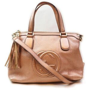 Gucci Hand Bag  Pinks Leather 1509341