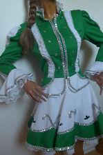 Dunkel grünes Tanzmariechen Kleid aufwendig verziert Solo Gr. 40 Gardekostüm