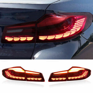 LED Taillights Assembly For BMW 5 Series G38 Red LED Rear lights 2018-2021
