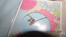 BELLISSIMA Collana con pendente fiocco montato su una carta regalo. - regalo perfetto, NUOVO