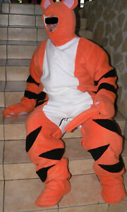 A14* Adult Baby Overall Onepiece Kostüm Tiger Costume Tiger