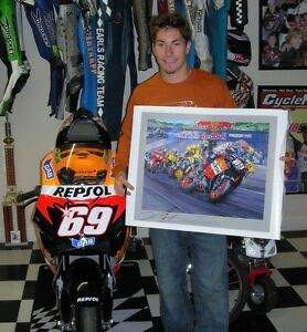 """Nicky Hayden, HAND SIGNED """"Perfect Day"""" by Nicholas Watts, PLUS a FREE print!!"""