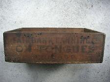 Alte Lieferkiste Holzkiste aus USA Chicago Oldtimer Ausrüstung Deko shabby 30er