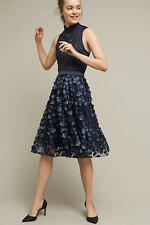 NWT ANTHROPOLOGIE Blue Buttercup Midi Tulle Skirt By Eva Franco size 8