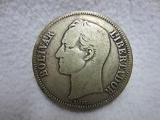 Moneda-venezuela-bolívar Libertador - 1936-plata 900