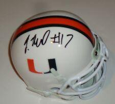 Tyriq McCord signed Miami Hurricanes mini football helmet w/coa Steelers