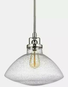 """Sea Gull Lighting 6514501-962 Belton 1-Light 12-5/8"""" Wide Pendant Seeded Glass"""