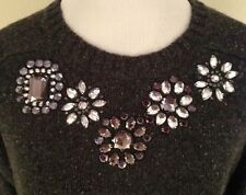 J. Crew Jeweled Donegal Sweater in SLATE Donegal NWT Size L