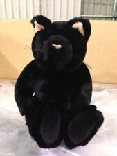 """$24reg NEW Deluxe 11"""" HALLOWEEN BLACK CAT KITTEN- Velvety stuffed animal toy S01"""