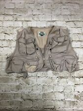 White River Fly Shop Fishing Vest Men Khaki Cargo Outdoors Altered See Pictures