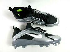 Nike Men's Alpha Huarache Pro Low Baseball Cleats Size 16 Black Grey 924277-012