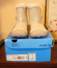 New w/ minor defect Stride Rite SRT Marta Gold Shimmer Faux Fur Lined Boots 9.5M