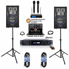 Laptop Included Complete YouTube Karaoke Machine/System w/ Mixer+Stands+(2) Mics