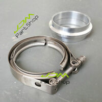 """Stainless 3.0"""" V-Band Clamp+76mm Aluminium Flange O-Ring Intercooler Inlet Pipe"""