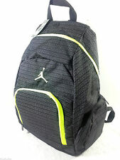 NWT NIKE AIR JORDAN YOUTH BOYS / MEN BLACK NEON BACKPACK LAPTOP BAG