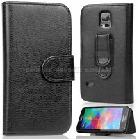 For Samsung Galaxy S2 S3 S4 NOTE 2 3 Wallet Holster Belt Clip PU Leather Case