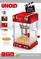 Unold - Profi-Retro-Popcorn-Maschine mit Edelstahl-Topf im 50er-Stil NEU