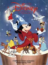 Walt Disney Winter/Spring 1989 Catalog Disney Animation Based Products