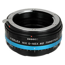 Vizelex ND Throttle Lens Mount Adapter Nikon Nikkor F to Sony E-Mount Camera