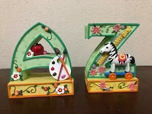 Mary Engelbreit Bookends A To Z Letters Apple Zebra Heavy 2000