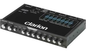 Clarion EQS755 Car Audio 7-Band Graphic Equalizer with Front 3.5mm Auxiliary