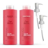 Invigo Wella Brilliance Fine/Normal Shampoo & Conditioner Duo Litre Pack + Pumps