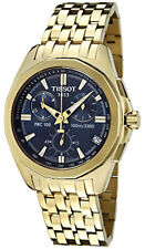 Tissot PRC 100 Chronograph Blue Dial Gold Toned Steel Men Watch T22568641