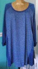 MOTHERHOOD OH BABY BUMP STYLE 3/4 SLEEVE BLUE TUNIC MATERNITY TOP -X-LARGE - NWT