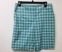 Jones New York Women Bermuda Stretch Shorts,Size 14 Cotton Blend Green  #3