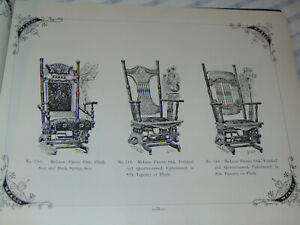 VTG 1894 FURNITURE DEALER CATALOG! CHAIRS OF ALL TYPES/TABLES/BEDROOMS/MIRRORS++