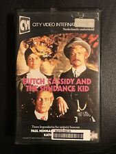 Butch Cassidy Sundance Kid Ex-Rental Vintage Big Box VHS Tape English dutch subs
