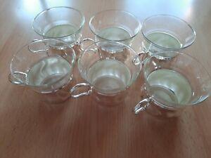 Teetassen/Teegläser. -  Metallhalter mit Glaseinsatz - 6 Stück