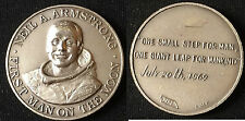 1970's N.Armstrong- 1st Man on Moon/NASA Apollo 11 Medal Affer/Italy,Vint,scarce