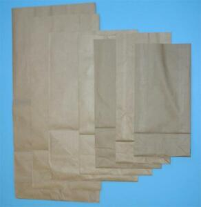 Brown Kraft  Block Bottom Bags 70 GSM Many Sizes for Gifts Retail Party 250 QTY
