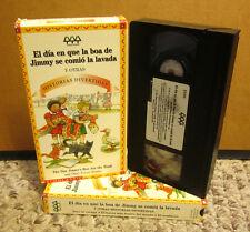 DAY JIMMY'S BOA ATE WASH animation Spanish edition VHS cartoon Trinka Noble 1999