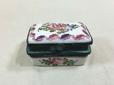 Antique Samson hand painted French pill box