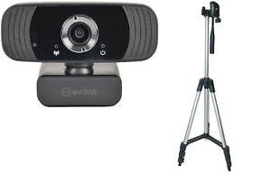 AV:LINK Full HD USB Webcam and Lightweight Tripod Stand