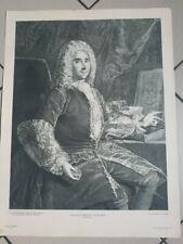 Héliogravure ancienne signée HERBERT LEVALLOIS Paris Ferchault De Reaumur