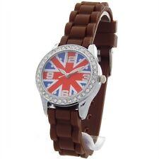 Montre Enfant mode Union Jack London Angleterre - drapeau Anglais UNKD-MARRON