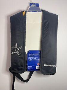 "West Marine Coastal Comfort Manual Inflatable Life Vest Type V 30""-52"" Shark"